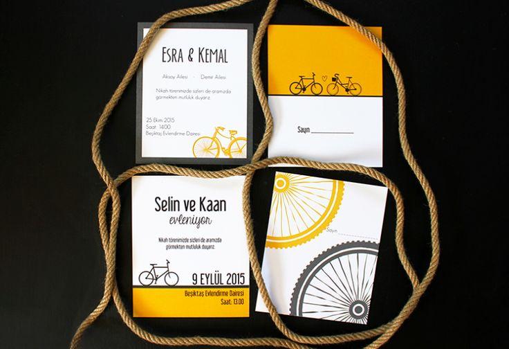 Paper Street Co. - Bisiklet Davetiye  Kişiye özel #davetiye tasarımlarımızı inceleyin!