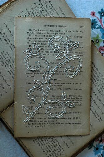 very cool. save a page from favorite children's books, bible passages or special poems-even newspaper from birth date-then embroider/needle point. great gift on wedding day or graduation.