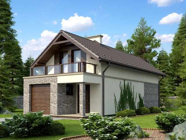 Rewelacja! Dom, który można zbudować na działce węższej niż 14 m! Mimo to, wnętrze mieści wszystko, co potrzebne jest, by wygodnie zamieszkała tu cztero- lub pięcioosobowa rodzina.