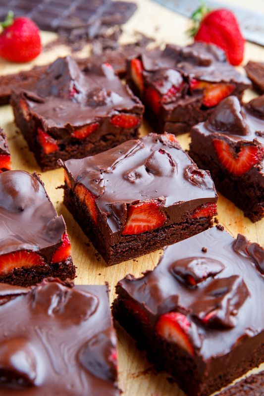 strawberry brownies!