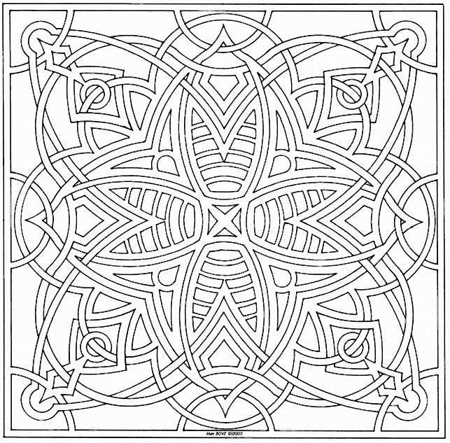 Coloring Mandalas Page 017