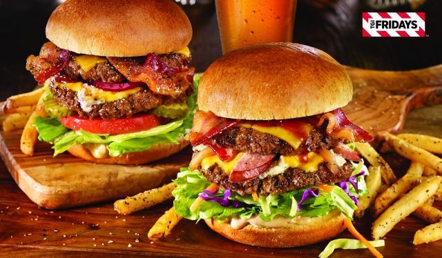 Digital Burger Giveaway Campaigns : TGI Fridays | Part of a social media-driven campaign, customers who purchase a burger from a participating TGI Fridays will be given a discount code they can share with their friends through their social networks.| Creative Marketing via TrendHunter