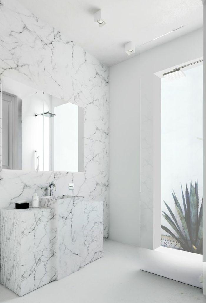 17 meilleures id es propos de salles de bains en marbre sur pinterest dou - Modeles salle de bains ...
