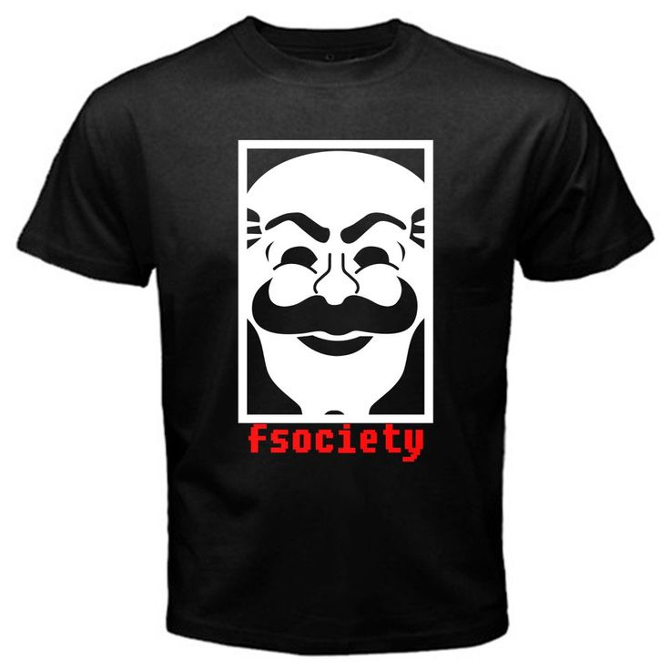 New Mr Robot Anonymous Mask Fsociety Team Hacker Evil Corp Tv Series T-shirt Tee For Men Women Euro Size XS-XXXL
