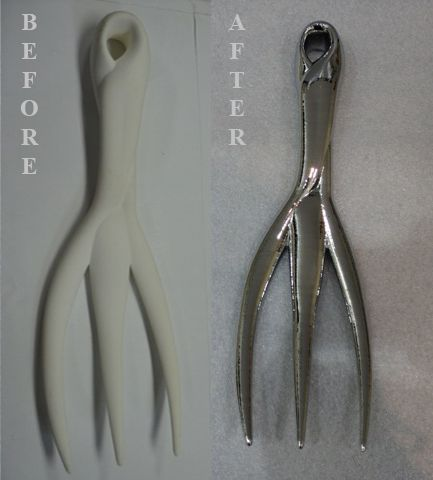 before / after 3d printed garden tool
