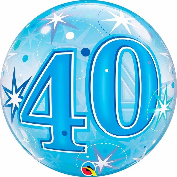 Folie helium ballon in het blauw van 40 jaar. Folie ballon met 40 jaar geworden opdruk. De folie ballon is ongeveer 55 cm groot. Deze folie ballon wordt gevuld met helium geleverd en kan derhalve niet geretourneerd worden.