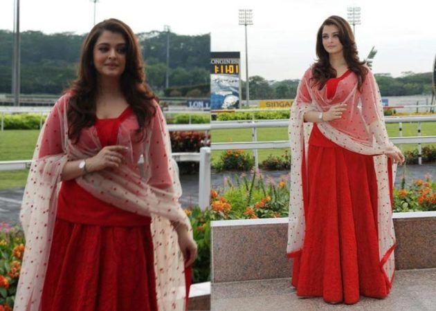 Aishwarya Rai in red dress