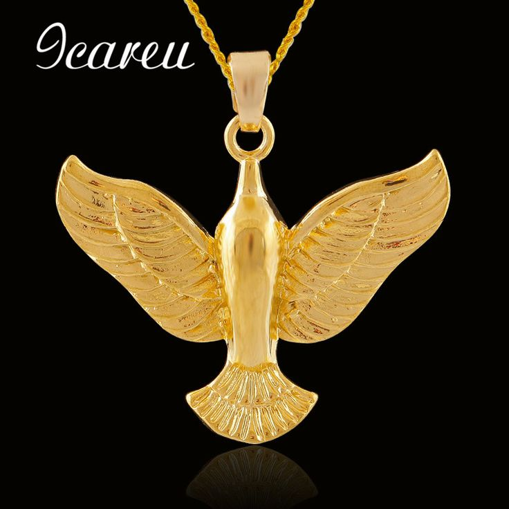 Fashion Peace Pigeon Animal Pendant Necklace For Women/Men Gold Color Jewelry Africa Gift #Affiliate