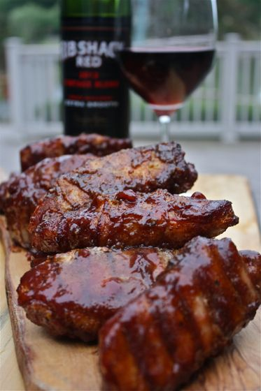 Bacon wrapped ribs, slathered in a triple cherry glaze.   Click the image for step by step, picture by picture, foolproof instructions!