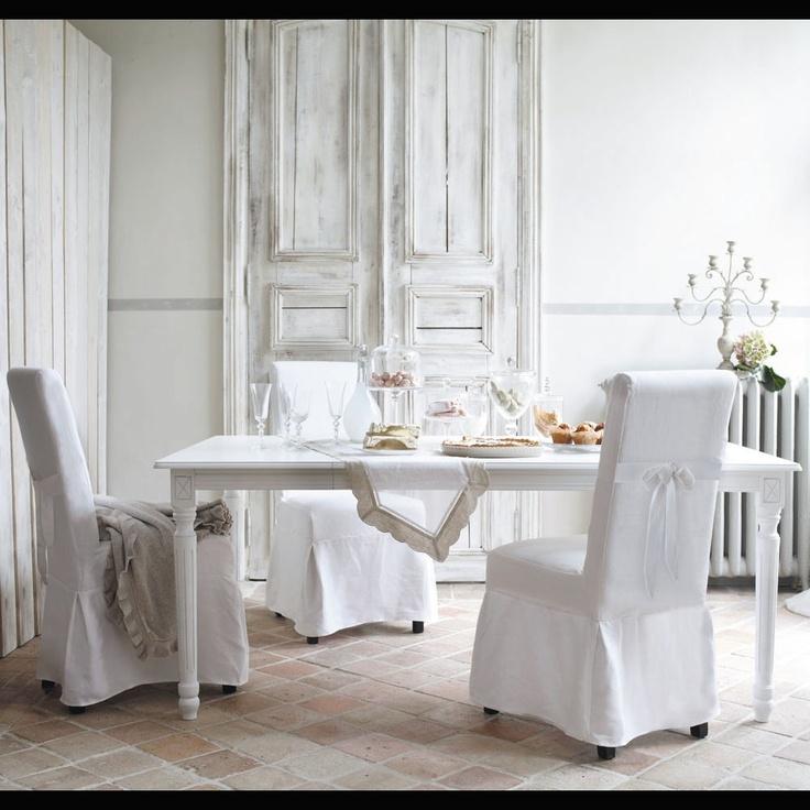 Housse de chaise nœud blanche Margaux