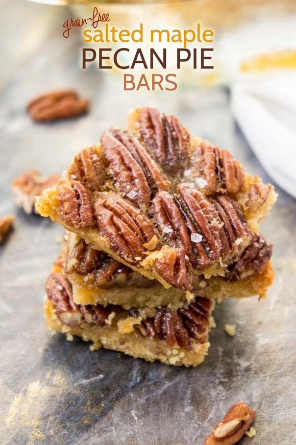 Grain-free maple pecan pie bars by @ForagedDish
