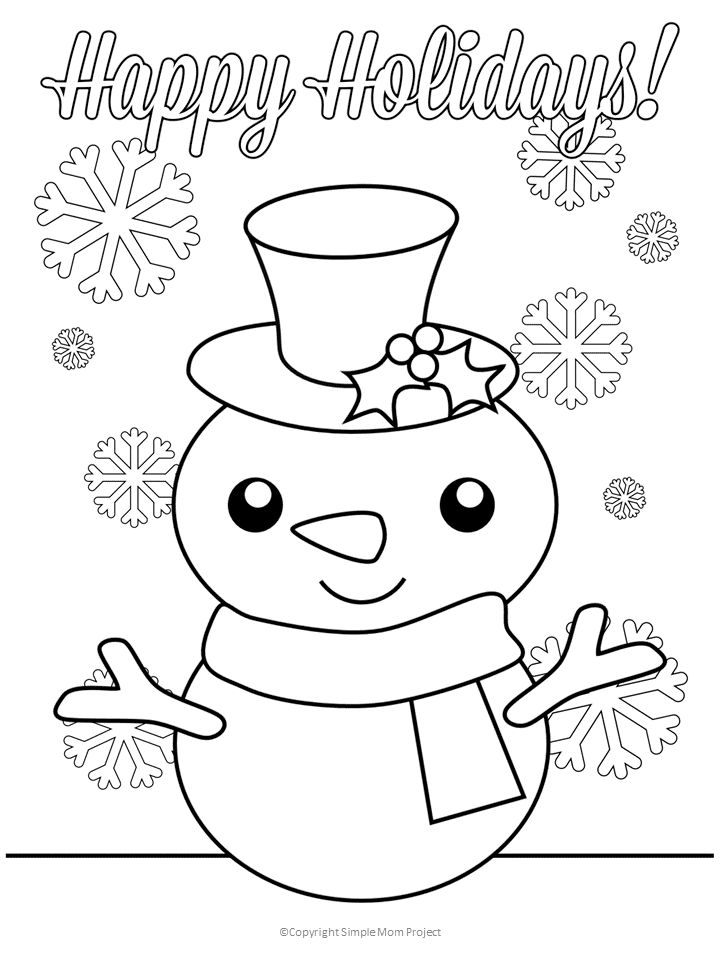 Click now to print these cute, FREE Christmas coloring ...