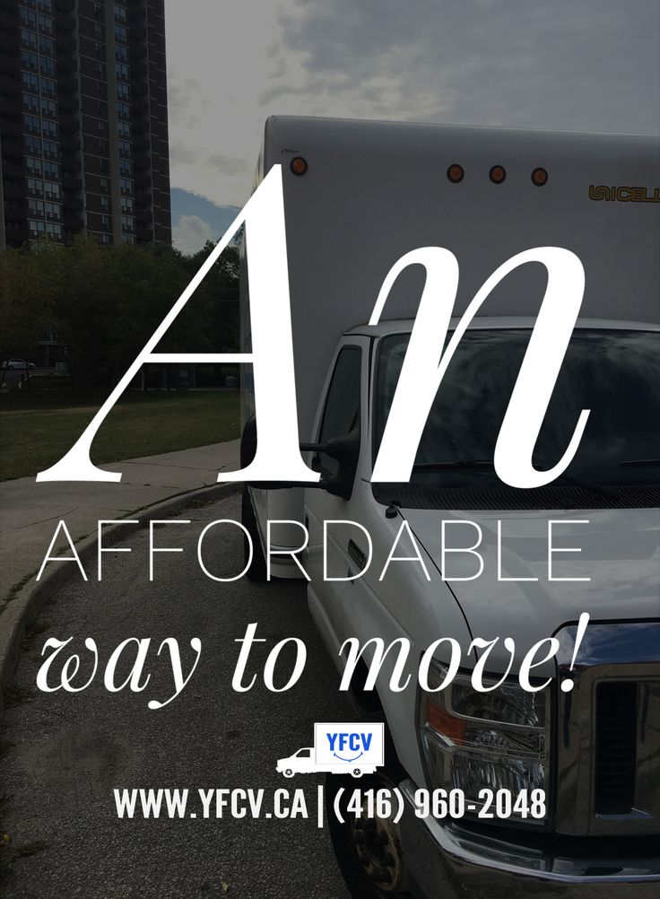An affordable way to #move! Your Friend with a Cube Van 416-960-2048 #YFCV #Toronto #Movers www.yfcv.ca #Moving #Packing 381 Dundas St E, Toronto, ON M5A 2A6