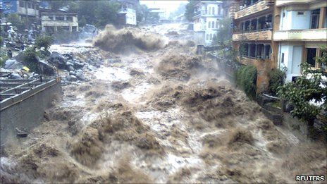 Pakistan floods 'hit 14m people' in 2010... Natures floods, generally caused by man getting in the way and altering terrain.