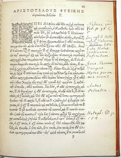 Marginalia in the hand of grammarian and politician James Harris (1709-1780) by Penn Provenance Project, via Flickr