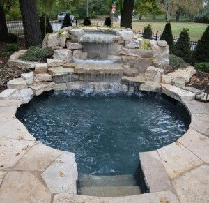 Fondulac Limestone Waterfalls Pond Doubles As A Wading Pool Designed For This Minneapolis Resident By Daryl Melquist Home Decor Backyard