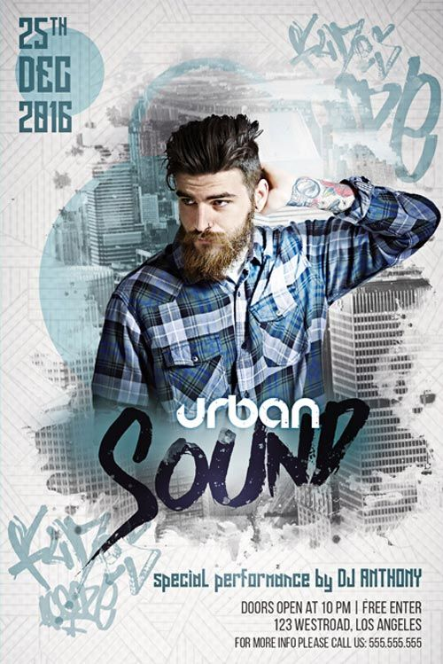 Urban Sound Free Flyer Template - http://freepsdflyer.com/urban-sound-free-flyer-template/ Enjoy downloading the Urban Sound Free Flyer Template created by Bestofflyers!   #Club, #Dance, #Dj, #EDM, #Electro, #Lounge, #Night, #Party, #Techno, #Trance