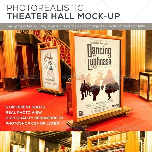Theater Hall Poster Mock Up Di 2021