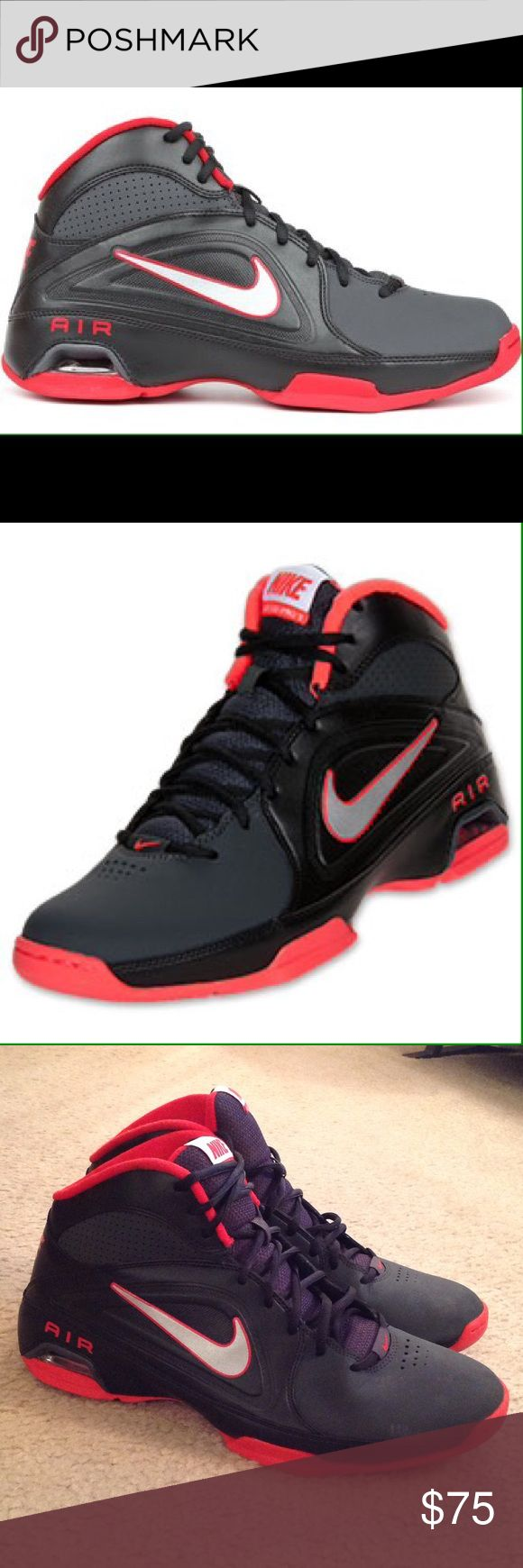 ☄️Nike Air - Visi Pro 111 - 'Swoosh' Shoes Excellent / New Condition. Nike Air Visi Pro 3, only worn once!!  For ballers with a need for speed!!  Size 11. Black/Red/Silver Color. Red Soles. See All Pictures please. Next day Shipping ☄️ Nike Shoes Athletic Shoes