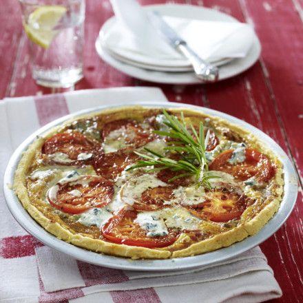 Tomaten-Speck-Kuchen mit Gorgonzolaguss Rezept   LECKER