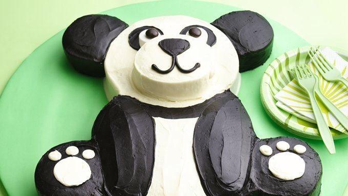 Oso de panda de la torta