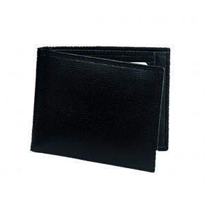 P-Foglio-U2 Black wallet with pouch