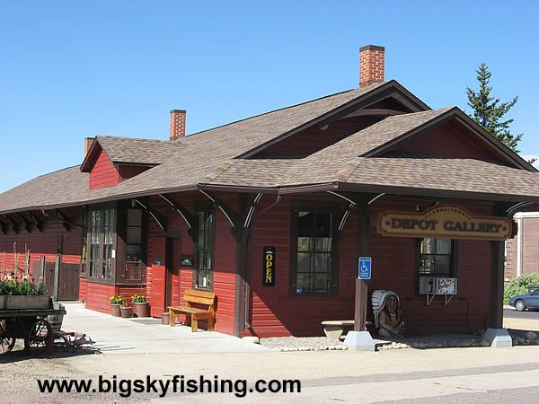 The Old Railroad Depot In Red Lodge, Montana