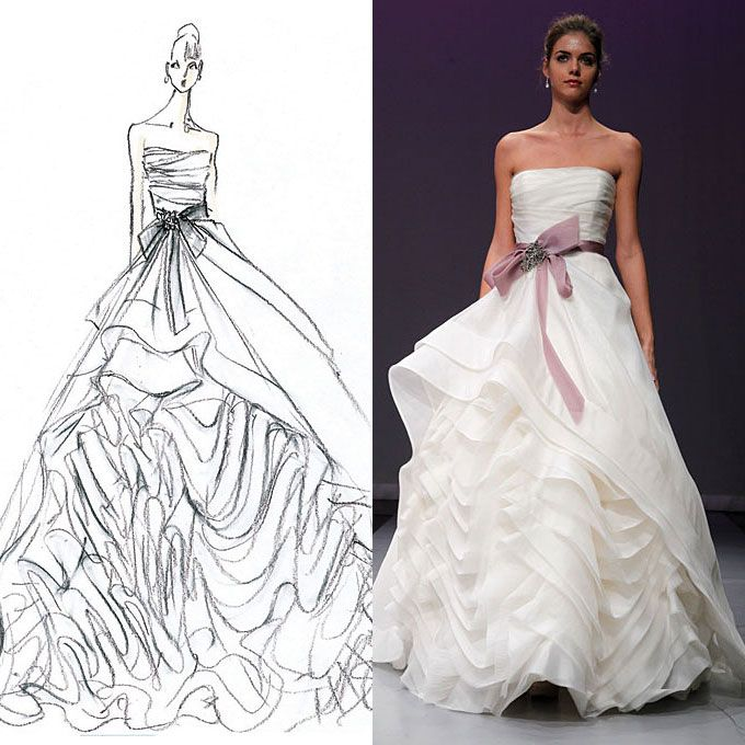 Esquisse et croquis robe de mari e rivini 2012 for How to be a fashion designer at 14