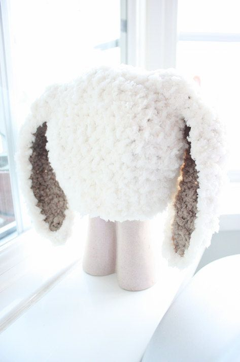 SALE* Cream and brown fluffy soft baby bunny hat, handmade with love by Babamoon - Size 6 to 12m - * Can be made in a choice of colours * Can by made in sizes Preemie to Adult * Order now for Christmas! * Get 10% off this November! * Free Worldwide Shipping Available! ->