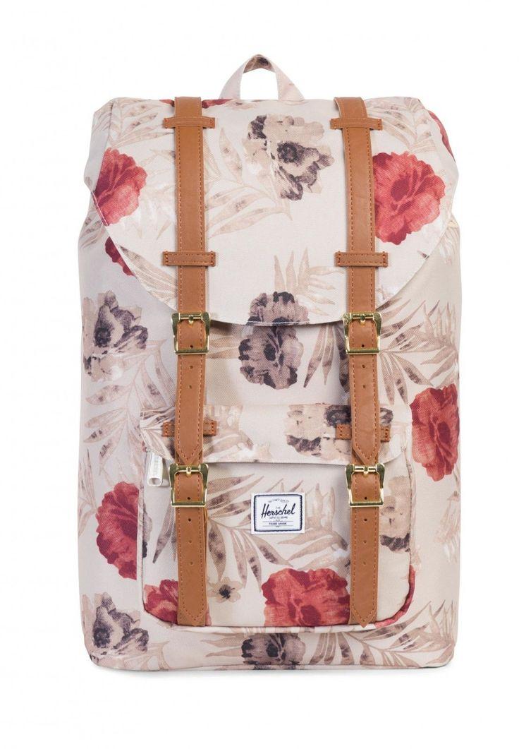 modeherz herschel little america mid volume backpack pelican floria tan school. Black Bedroom Furniture Sets. Home Design Ideas
