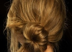 how to recreate the sexy, messy side bun seen at Rebecca Minkoff