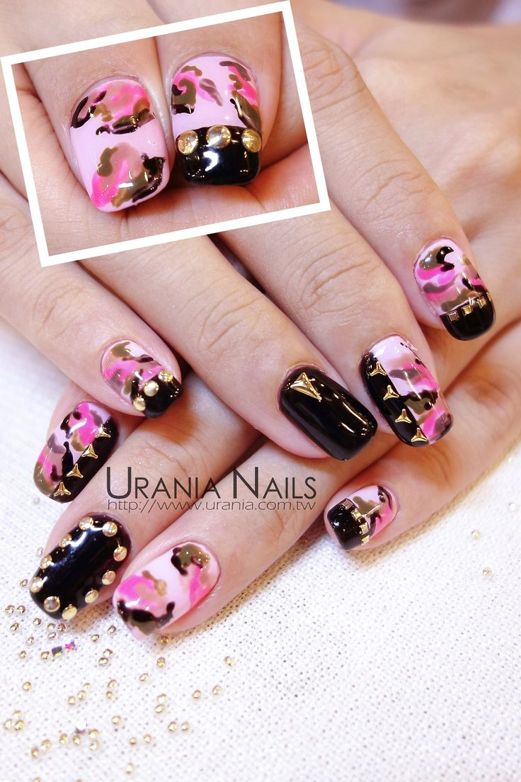 Nail designs pink camo pink camo nails pink camo nail art designs g view images prinsesfo Image collections