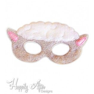 Sheep Mask ITH Embroidery Design