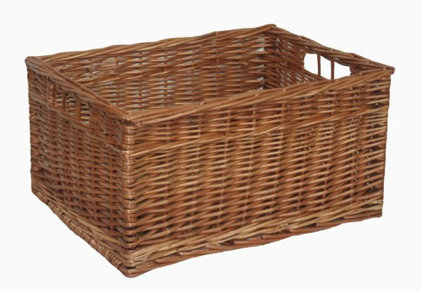 Double Steamed Open Wicker Storage Basket Extra Large