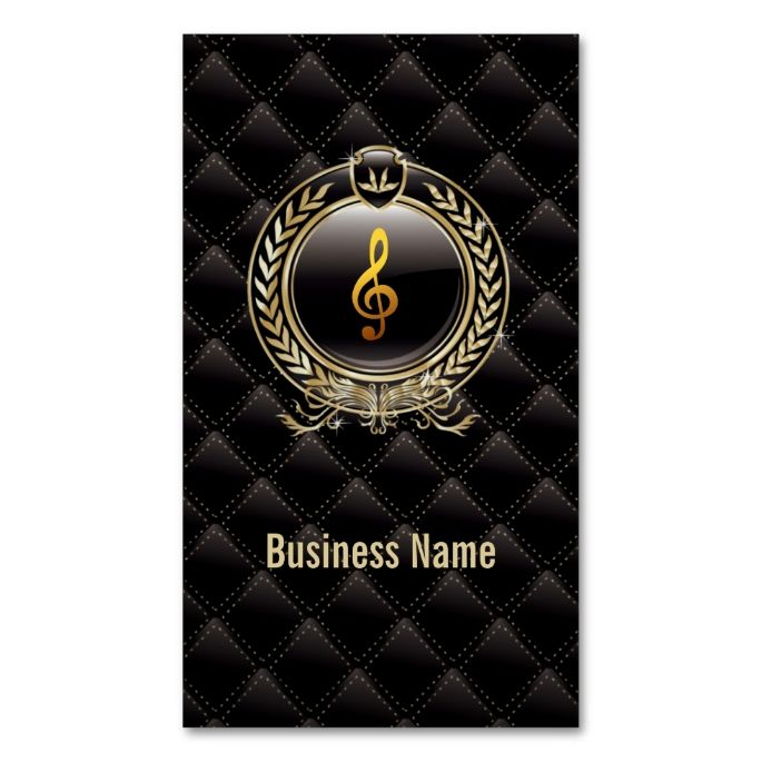 Royal Black Music Lessons business card. This great business card design is available for customization. All text style, colors, sizes can be modified to fit your needs. Just click the image to learn more!
