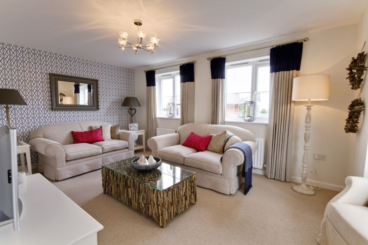 The living room in The Sheringham at Marine View in Teignmouth | Bovis Homes