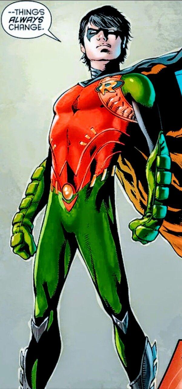 """Dick Grayson in Batman and Robin Eternal. Stupendo come al solito...ma perché mi fai questo, DC? Io amo i suoi """"mutandoni"""" originali..😔😘"""
