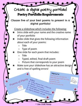 FREE on Teachers Pay Teachers! Have students create their own digital poetry project! This is super useful for a creative writing or poetry unit.
