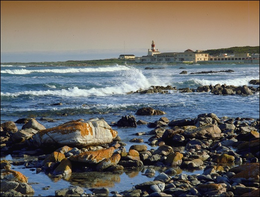 The most southern point of Africa can be found at Agulhas National Park. Photograph: SAN Parks.