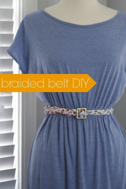 This beautiful braided belt is made with repurposed scraps! Braided belt DIY.