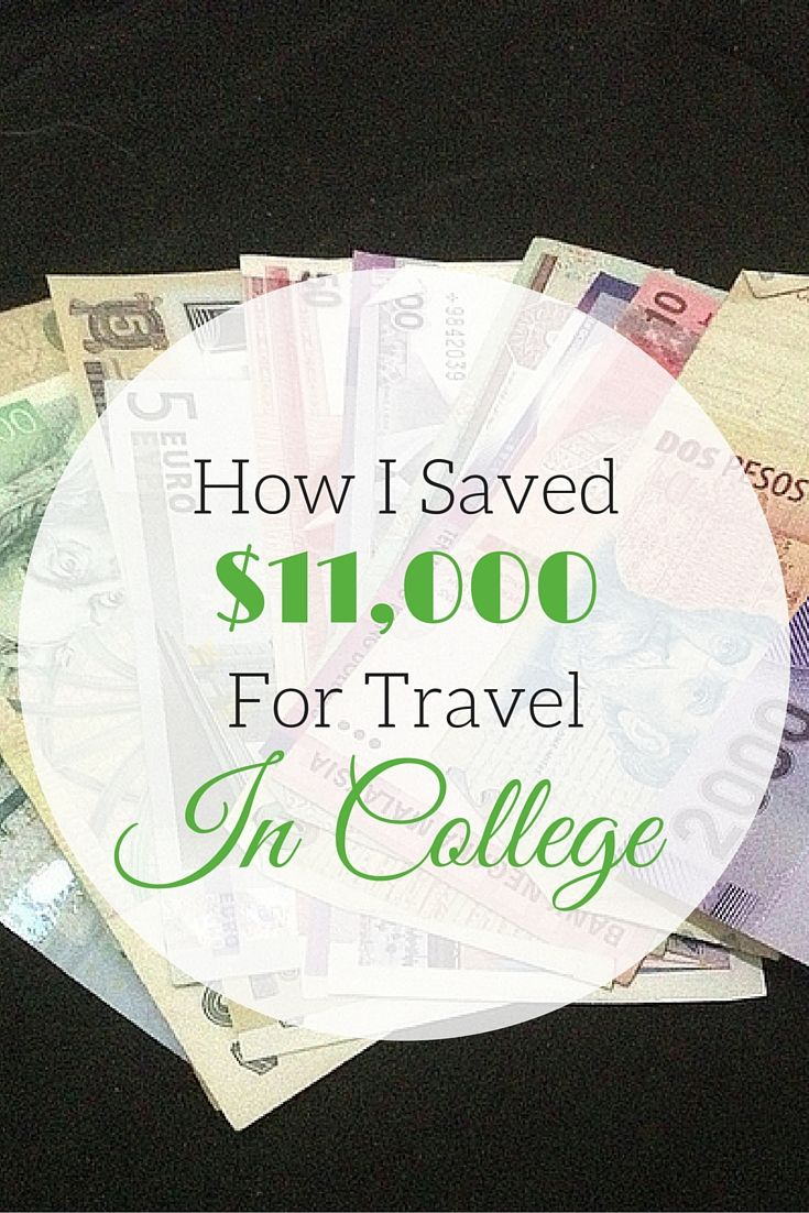 If I could do it, you can too! Here's my account of how I saved over $11,000 as a broke college student so I could travel after graduation.