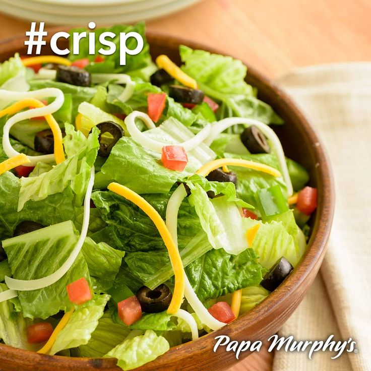 Did you know Papa Murphy's has delicious salads? Stop during your lunch hour this week!! #crisp
