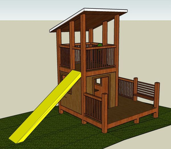 Best 25 pallet playhouse ideas on pinterest pallet for Simple outdoor playhouse plans