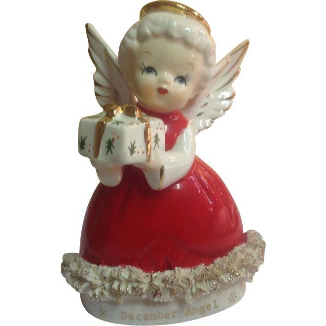 Vintage 1950's December Angel CHRISTMAS Gift Figurine