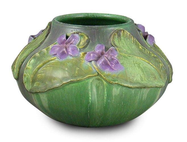 "Oh, my...isn't this gorgeous ?!? ""Wood Violet"" by Ephraim Faience Pottery"