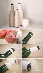 decorar botellas de vidrio 3