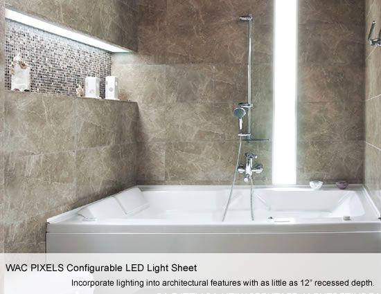 WAC PIXELS Configurable LED Light Sheets - Bath illuminated
