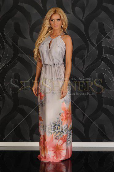 Rochie Mexton Paradise Flower Grey