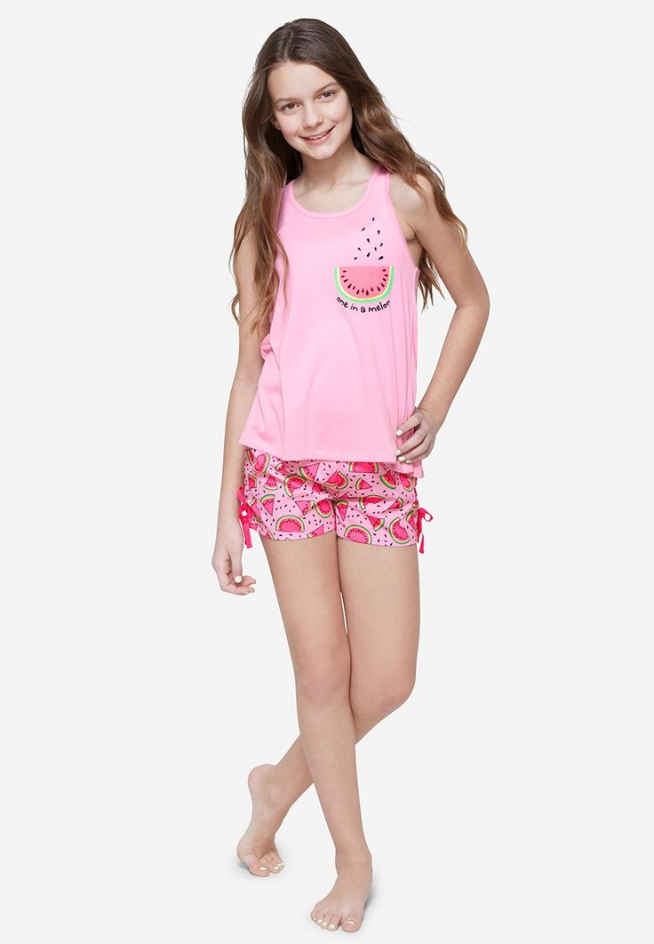 Justice Watermelon Sleep Set For Girls - Comfy  Cute -2626