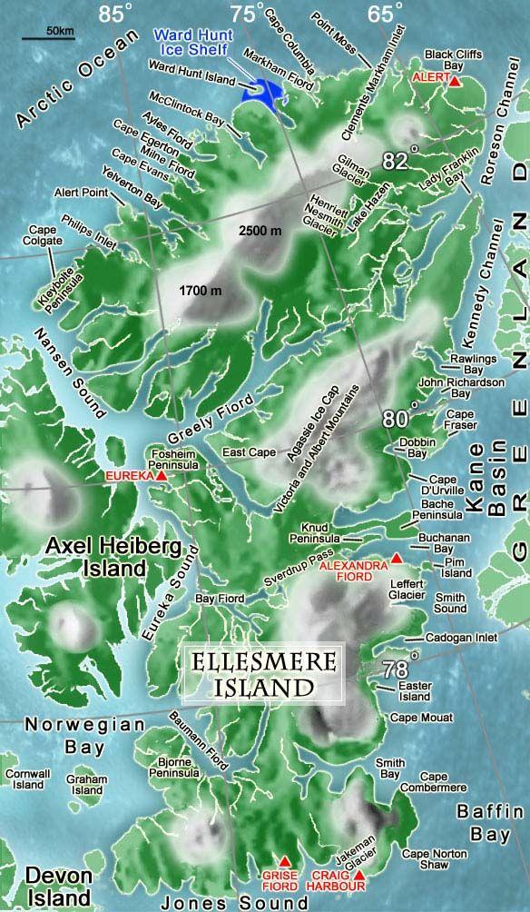 ellesmer island map